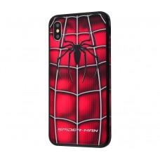 "Чехол для iPhone X / XS Glass ""Spider Man"""