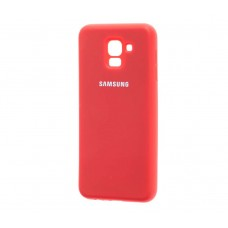 Чехол Silicone cover для Samsung Galaxy J6 2018 Красный