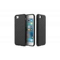 Силиконовый чехол для iPhone 7/8 принт - карбон