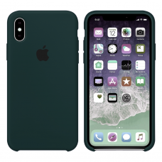 Силиконовый чехол Apple Silicone Case Forest Green для iPhone Xs Max