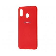 Чехол для Samsung Galaxy A30 Silicone Cover Красный