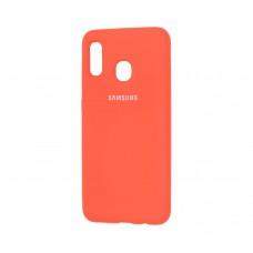 Чехол для Samsung Galaxy A30 Silicone Full Оранжевый