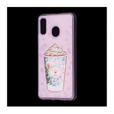 "Чехол для Samsung Galaxy A30 блестки вода ""Мороженое"""
