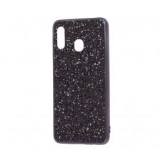 Чехол для Samsung Galaxy A30 Shining Sparkles с блестками черный