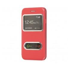 Чехол-книжка для iPhone 7/8 с двумя окошками Красный