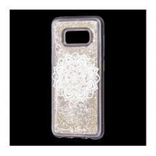 "Чехол для Samsung Galaxy S8 блестки вода ""Мандала"""