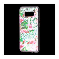 "Чехол для Samsung Galaxy S8 блестки вода ""Фламинго"""