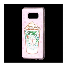 "Чехол для Samsung Galaxy S8 блестки вода ""Кофе"""