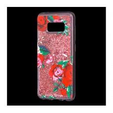 """Чехол для Samsung Galaxy S8 блестки вода """"Розы"""""""