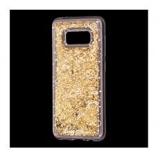"""Чехол для Samsung Galaxy S8 блестки вода """"Космос"""""""