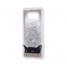 "Чехол для Samsung Galaxy S8 блестки вода ""Кот"""