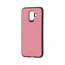 Чехол Hard Textile для Samsung Galaxy J6 2018 Розовый