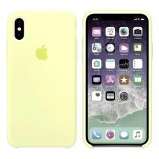 Силиконовый чехол Apple Silicone Case Mellow Yellow для iPhone Xs Max