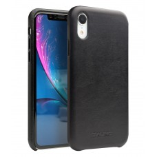 Кожаный чехол Qialino Leather Case Kangaroo Black для iPhone Xr