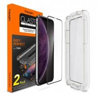 Защитное стекло SPIGEN GLASS FC для Apple iPhone XS Max BLACK (Черный)