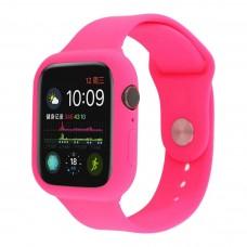 Силиконовый чехол-ремешок для Apple Watch 38/40/42/44мм Hot pink
