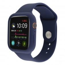 Силиконовый чехол-ремешок для Apple Watch 38/40/42/44мм Midnight Blue