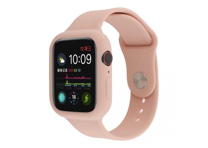 Силиконовый чехол-ремешок для Apple Watch 38/40/42/44мм Pink Sand