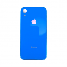 Чехол для iPhone Xr Glass Logo Case Blue ( Синий )