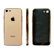 Чехол для iPhone 7/8 Glass Logo Case Gold (Золотой)