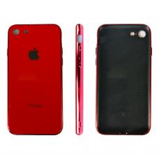 Чехол для iPhone 7/8 Glass Logo Case Red (Красный)