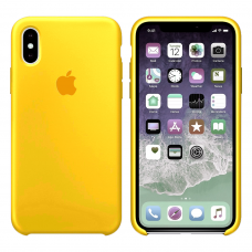 Силиконовый чехол Apple Silicone Case Canary Yellow для iPhone Xs Max