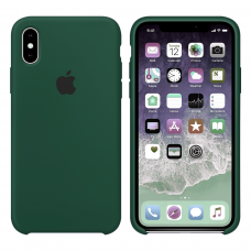 Силиконовый чехол Apple Silicone Case Dark Virid для iPhone X/Xs
