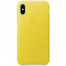 Apple Leather Case Spring Yellow для iPhone XS Max