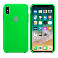 Силиконовый чехол Apple Silicone Case Uran Green для iPhone XS Max