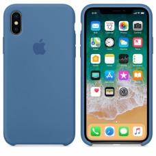 Силиконовый чехол Apple Silicone Case Denim Blue для iPhone XS Max