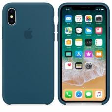 Силиконовый чехол Apple Silicone Case Cosmos Blue для iPhone XS Max