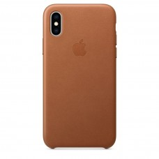 Apple Leather Case Saddle Brown для iPhone Xr