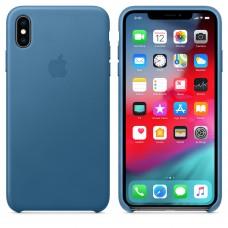 Apple Leather Case Cape Cod Blue для iPhone Xr