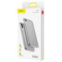 Защитный прозрачно-черный чехол Baseus Airbags Case для iPhone Xs Max