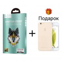 Защитное стекло Hoco Premium для iPhone 6/6s Black (черное)
