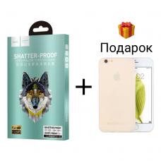 Защитное стекло Hoco Premium для iPhone 6/6s White (белое)