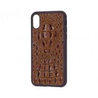 Кожаный чехол Genuine Leather Horsman для iPhone X / Xs Коричневый