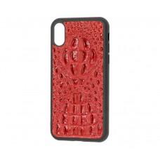 Кожаный чехол Genuine Leather Horsman для iPhone X / Xs Красный