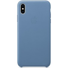 Кожаный чехол Apple Leather Case Cornflower для iPhone X / Xs