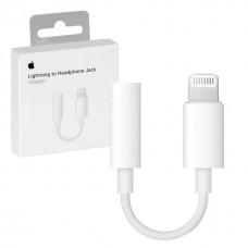 Переходник Apple Mini Jack to Lightning (белый)