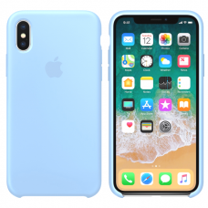 Силиконовый чехол Apple Silicone Case Sky Blue для iPhone XS Max
