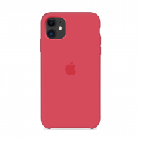 Силиконовый чехол Apple Silicone Case Red Raspberry для iPhone 11
