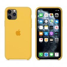Силиконовый чехол Apple Silicone Case Lemonade для iPhone 11Pro