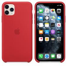 Силиконовый чехол Apple Silicone Case Red для iPhone 11 Pro Max