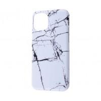 Чехол для iPhone 11 Pro Benzo Mramor Бело-черный