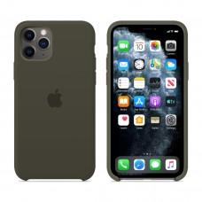 Силиконовый чехол Apple Silicone Case Dark Olive для iPhone 11 Pro