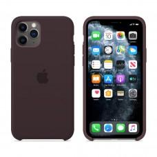 Силиконовый чехол Apple Silicone Case Cocoa для iPhone 11 Pro
