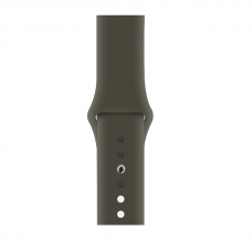 Силиконовый ремешок для Apple Watch 38/40/42/44мм Dark olive