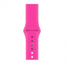 Силиконовый ремешок для Apple Watch 38/40/42/44мм Barbie Pink (копия)
