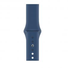 Силиконовый ремешок для Apple Watch 38/40/42/44мм Cobalt Blue (копия)
